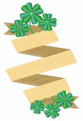 Shamrock Banner embroidery design
