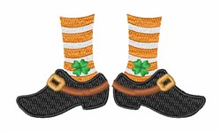 Leprechaun Feet embroidery design