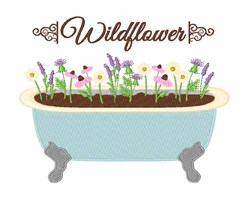 Wildflower embroidery design