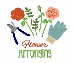 Flower Arranging embroidery design