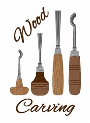 Wood Carving embroidery design