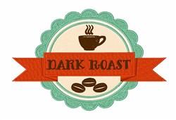 Dark Roast embroidery design