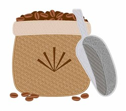 Coffee Bean Bag embroidery design