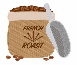 French Roast embroidery design