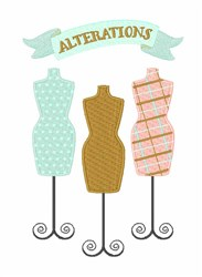Alterations embroidery design