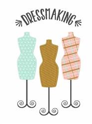 Dressmaking embroidery design