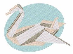 Origami Paper Swan embroidery design