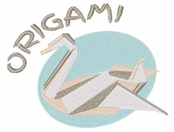 Origami Swan embroidery design