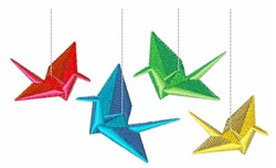 Paper Cranes embroidery design