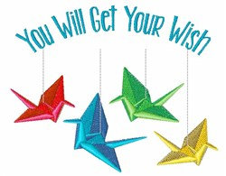 Get Your Wish embroidery design