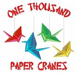 Thousand Paper Cranes embroidery design
