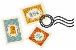 Postage Stamps embroidery design