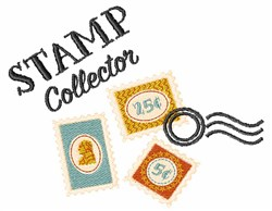 Stamp Collector embroidery design