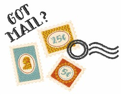 Got Mail embroidery design