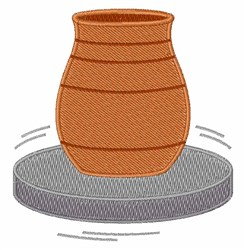 Pottery Wheel embroidery design