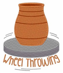 Wheel Throwing embroidery design