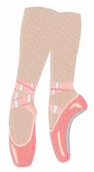 Ballerina Shoes embroidery design