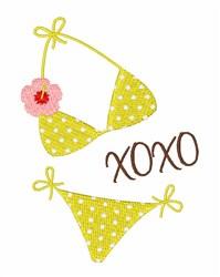 XOXO Bikini embroidery design