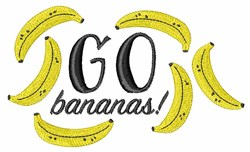 Go Bananas embroidery design