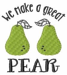 Great Pear embroidery design