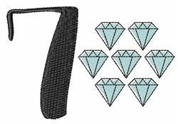 7 Diamonds embroidery design