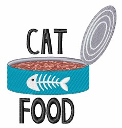 Cat Food embroidery design