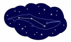Star Whale embroidery design