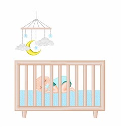 Baby Crib embroidery design