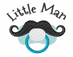 Little Man embroidery design