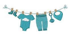 Baby Laundry embroidery design