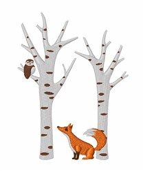 Forest Fox embroidery design