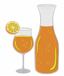 Mimosa Drink embroidery design