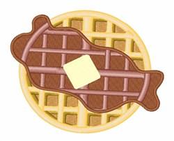 Breakfast Waffle embroidery design
