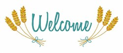 Welcome Wheat embroidery design