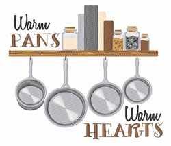 Warm Pans embroidery design