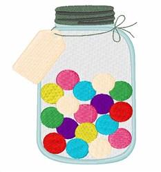 Bubble Gum Jar embroidery design
