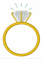Engagement Ring embroidery design