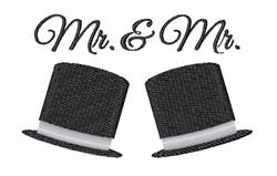 Mr & Mr embroidery design