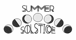 Summer Solstice embroidery design