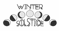 Winter Solstice embroidery design