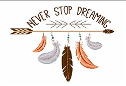 Stop Dreaming embroidery design