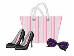 Bag & Heels embroidery design