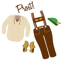 Prost Clothes embroidery design