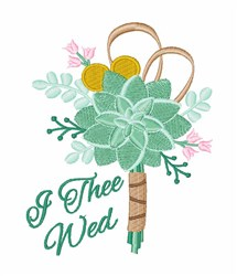 I Thee Wed embroidery design