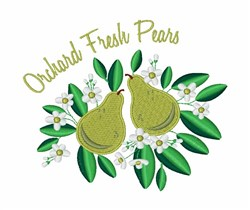 Fresh Pears embroidery design