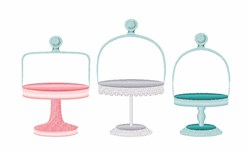 Cake Stands embroidery design