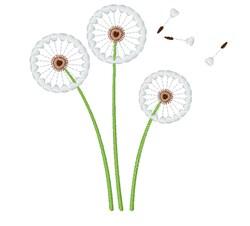 Dandelion embroidery design