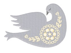 Folk Art Dove embroidery design