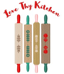 Love Thy Kitchen embroidery design