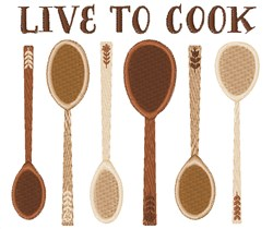 Live To Cook embroidery design